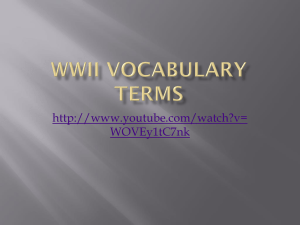 WWII Vocabulary Terms