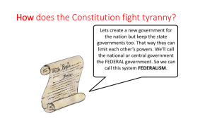 Federalism Vocab. Brainstorm Box