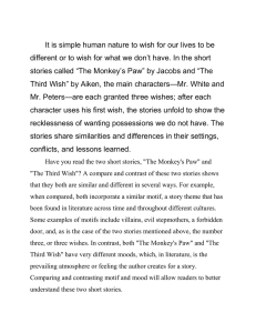 critical essay on the monkeys paw
