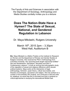 The State of Sexual, National, and Gendered Regulation in