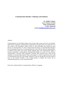 Communication Hurdles: Challenges and Solutions