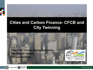 Carbon Finance Capacity Building (CFCB) Programme