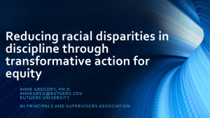 Reducing the racial discipline gap through distal or proximal