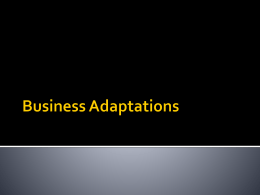 Business Adaptations