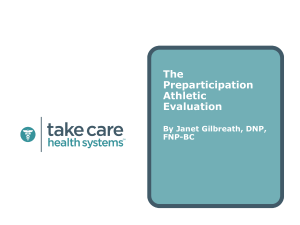 Preparticipation Physical - Partners in Healthcare Education