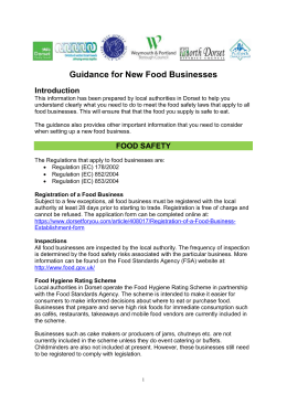 guidance for new food businesses (word, 790kb)