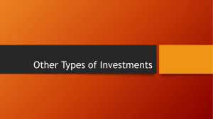Other Types of Investments
