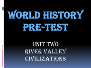 WORLD HISTORY PRE-TEST