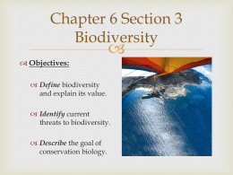 Chapter 6 Section 3 – Biodiversity (PowerPoint)