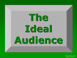 The Ideal Audience - A Site for the Lord