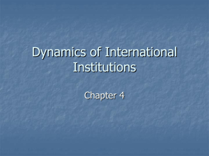 Chapter 4: The Dynamics of International Institutions