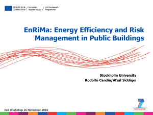 EnRiMa: Energy Efficiency and Risk Management in Public Buildings