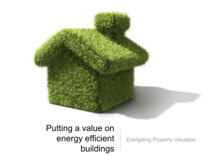 Putting a value on energy efficient buildings