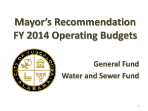 Mayor*s FY 2009 Operating Budgets