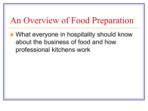 Semester 1: Food Production