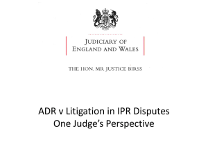 Colin Birss_Justice, England & Wales High Court Chanceryl_ADR