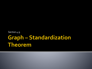 Graph * Standardization Theorem