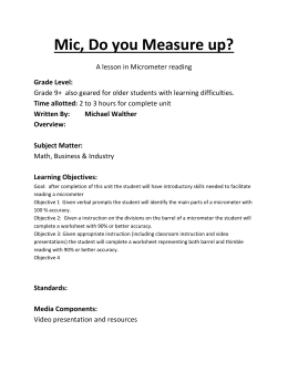 Mic, Do you Measure Up? Lesson Plan