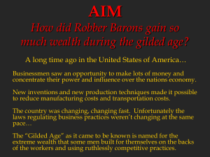 Robber Barons and Monopolies