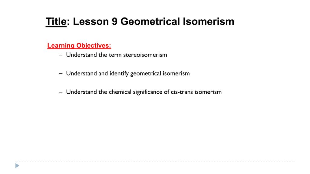 importance of isomerism