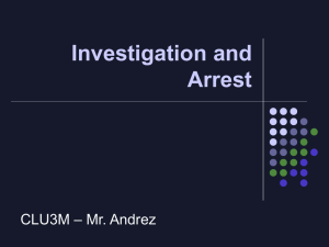 CLU3M Investigation and Arrest