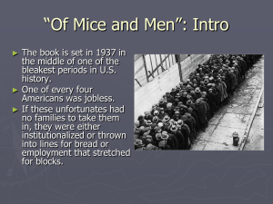 """Of Mice and Men"": Intro"