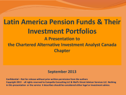 Pensions in Latin America - Wall's Street Advisors Services