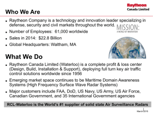 Raytheon Canada Ltd. - Southern Ontario Defence Association
