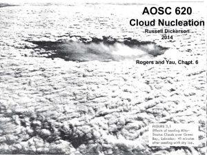 Lecture 21, Cloud Nucleation - Atmospheric and Oceanic Science