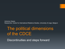 The political dimension of the CDCE