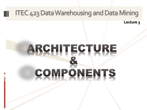 Architectural Types Architectural Types :Centralized Data Warehouse