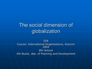 The social dimension of globalization