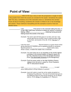 Point of View Student Notes - Tri