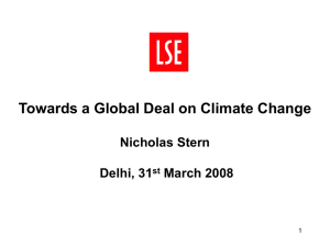 Towards a Global Deal on Climate Change