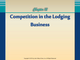 Competition in the Lodging Business