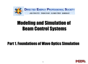 Part 1. Foundations of Wave Optics Simulation