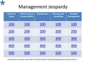 Management Jeopardy