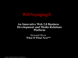 WebVoyaging(R) Overview