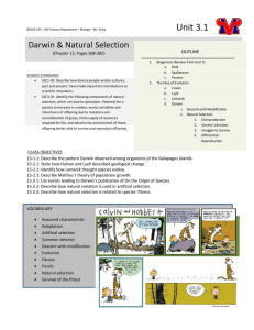 Unit 3.1 - Natural Selection