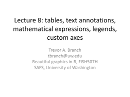 Lecture 8 tables axes
