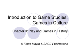 igs_chapter_3 - An Introduction to Game Studies