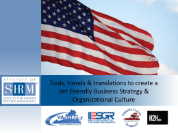 Tools, trends & translations to create a Vet Friendly