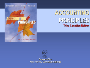 Accounting Principles, Third Canadian Edition