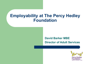 Employability at The Percy Hedley Foundation