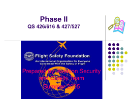 QS 426/427/527/616 Aviation Security Quality Systems Project