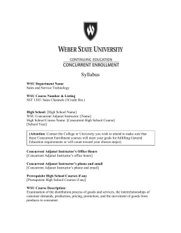 Departments - Weber State University