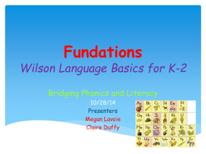 Fundations and Word Work PowerPoint