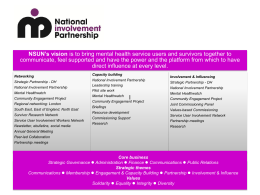 Mental Healthwatch - National Survivor User Network