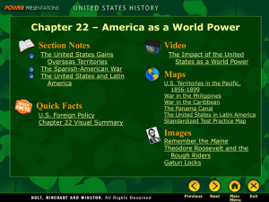 America as a World Power Section Notes The