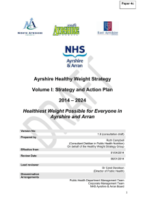 Paper 4c - Ayrshire Healthy Weight Strategy 2013